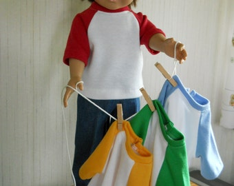 """18"""" Boy Doll Clothes Jeans with Jersey Your Color Choice for American Girl Type Dolls"""