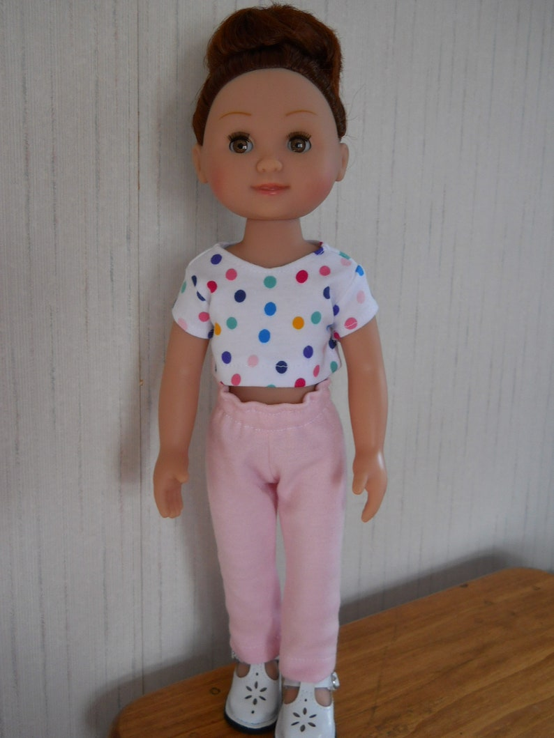 "Pink Piggie Nightgown Pajamas Fits Wellie Wishers 14.5/"" American Girl Clothes"