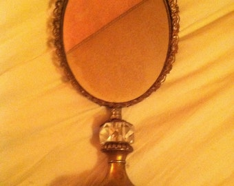 Vintage makeup vanity mirror ornate