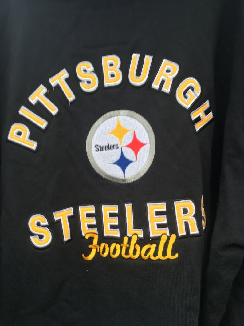the latest 81ffe 3c633 Vintage football laced hoodie 2xl Pittsburgh Steelers