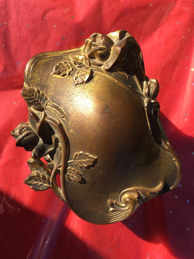 Antique jewelry box casket trinket box roses