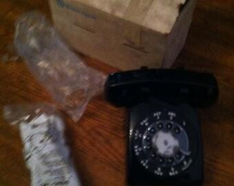 Vintage black telephone western electric