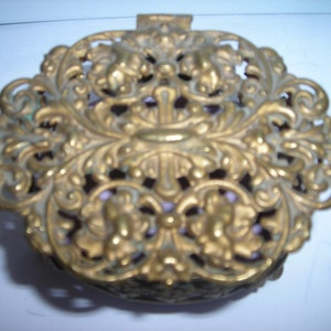 antique French gilded spender footed casket French box depose 453