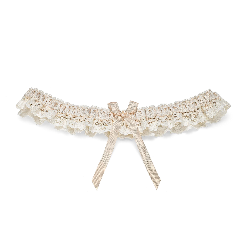 4243b9294bf3 Lace Wedding Garter. Blush nude lace bridal garter.