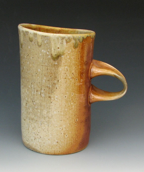 WOOD FIRED MUG #30, Mugs Handmade, Mugs Wood Fired, Mugs Pottery, Wood Fired Pottery, Wood Fired Ceramics, Ash Glaze, Stoneware Mug