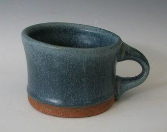 BLUE CERAMIC MUG #3 stoneware mug pottery mugs coffee mugs small handmade hot chocolate food safe clay herbal Irish coffee gifts for him her