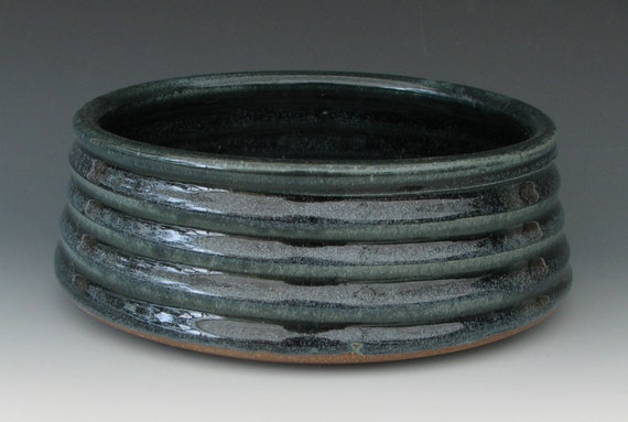 STONEWARE DOG BOWL