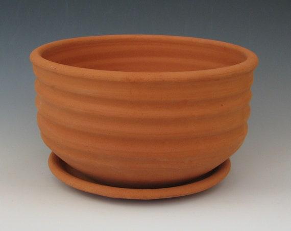 CERAMIC FLOWER POT #30 terra cotta planter clay earthenware unglazed raw terracotta pottery plants drainage flower wheel thrown porous red