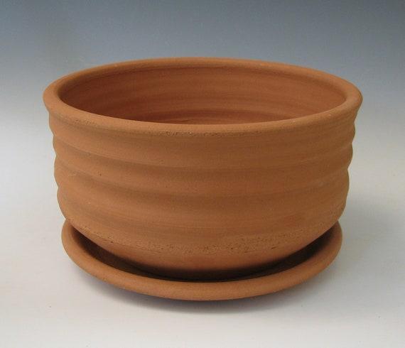 TERRACOTTA PLANTER #17 terra cotta pot planters plant pot flower earthenware drain hole unglazed porous clay handmade raw pottery houseplant