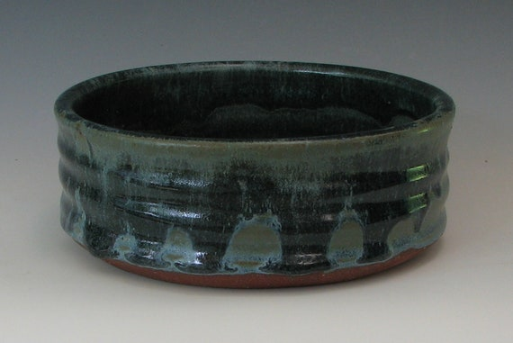 STONEWARE DOG BOWL #25 small dog bowl ceramic dog bowl small pet puppy for puppies for cats water bowl for small pets kitten cat food feeder