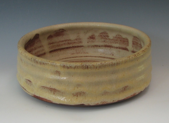 STONEWARE DOG BOWL #27 ceramic dog bowls pet food water dish pottery clay for dogs large feeder clay dishes food safe handmade for dog lover