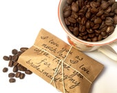 Unique Bridesmaid Gift! Freshly roasted coffee favors for your girls! Set of 5-ready to ship.