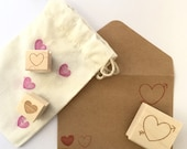 Itty Bitty Heart Stamp // DIY wedding invitations, wedding favors, save the dates. Ready to ship.