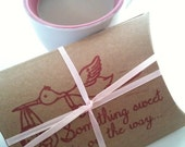 Unique BABY SHOWER favors  // Set of 10 Hot Chocolate or Organic Tea Party Favors.