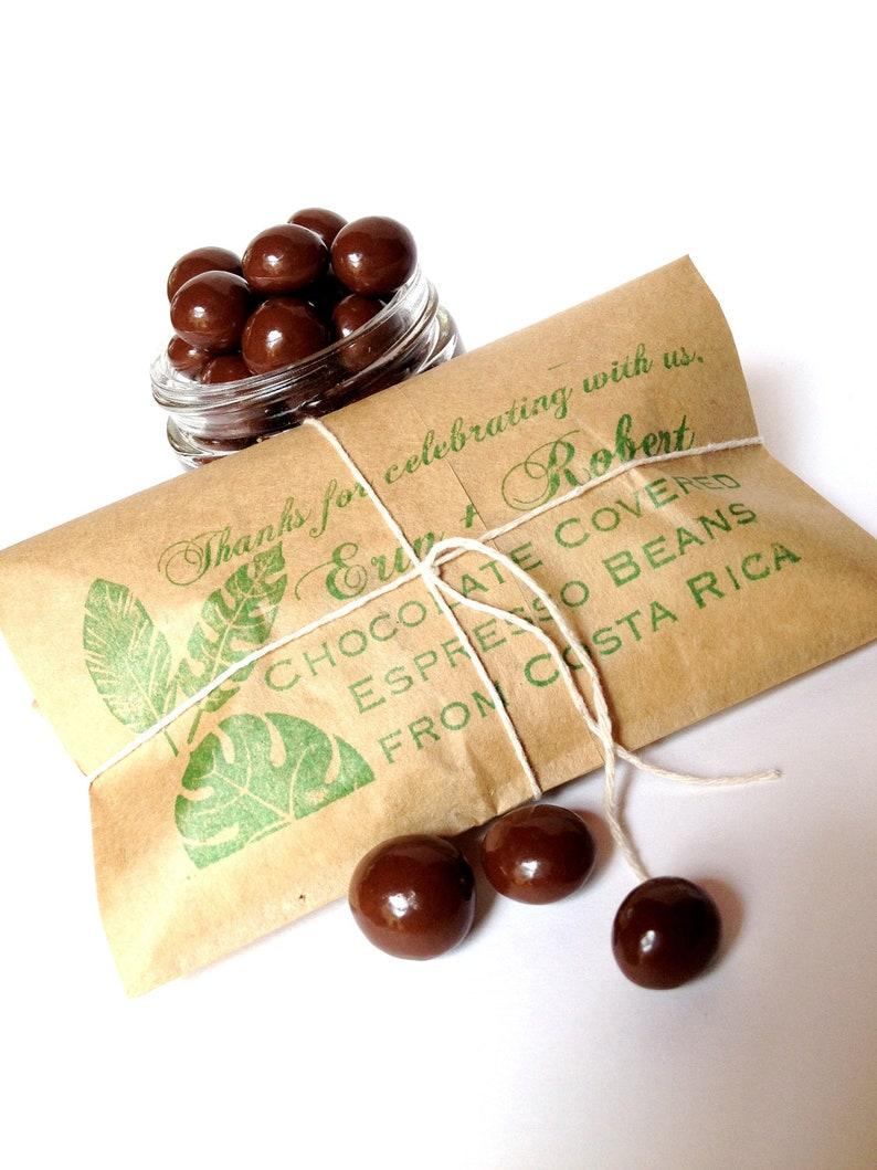 Chocolate Wedding Favors.Chocolate Espresso Bean Wedding Favors Bridal Shower Favors Custom Wedding Or Corporate Gifts Set Of 20
