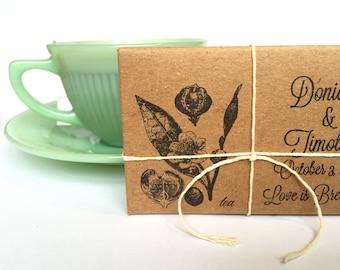 Bridal Shower Tea Party Favors // customized // organic // unique ...set of 20