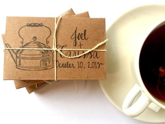 Winter Wedding Gifts: Tea Wedding Favors // Rustic Winter Wedding Gifts