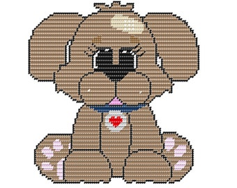 Plastic Canvas Baxter Rescue Pup Wall Hanging PDF FORMAT