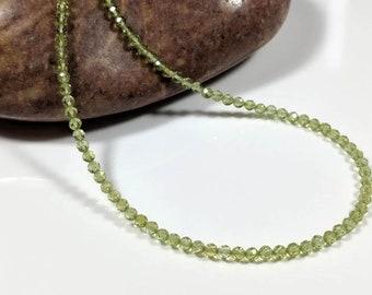 Peridot Necklace Peridot Gemstone Beaded Necklace Jewelry choker Necklace