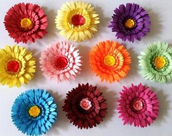 3d paper flowers etsy 3d paper gerbera haircomb mightylinksfo