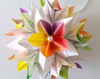 3d origami electra kusudama with carambola flowers etsy kusudama carambola mightylinksfo