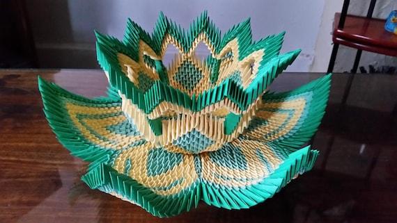 3d Origami Vase Lotus 2