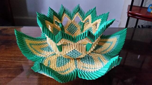 3d Origami Vase Lotus 2 Etsy