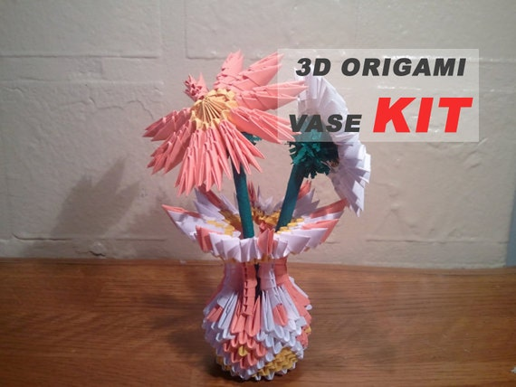 3d Origami Small Vase Kit Etsy