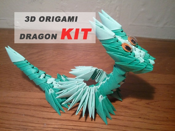 3D orgami Chinese yellow Dragon gifts for kids free shiping|kit ... | 428x570