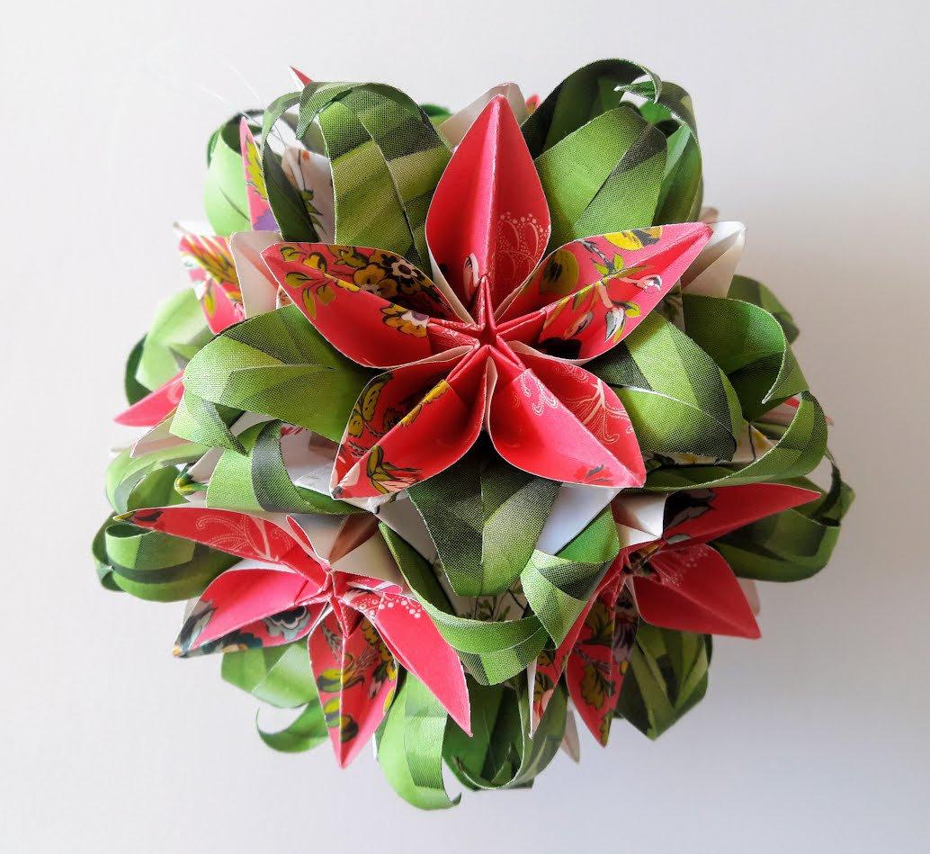 3d Origami Electra Kusudama With Carambola Flowers 2 Etsy