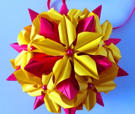 3d Origami Kusudama Poinsettia 2 Etsy