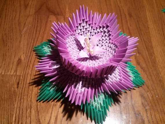 3d Origami Lotus Etsy