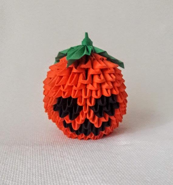 3d Origami Pumpkin Etsy