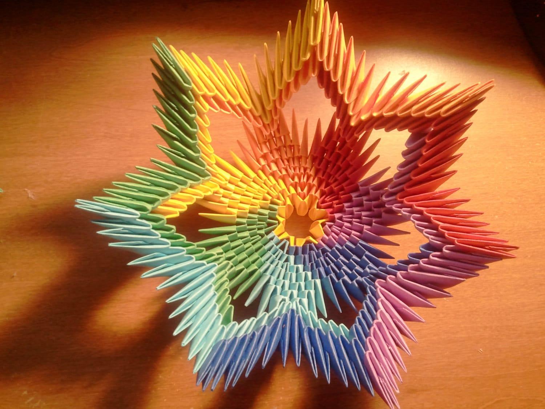 Tutorial how to make 3d origami rainbow bowl etsy zoom izmirmasajfo