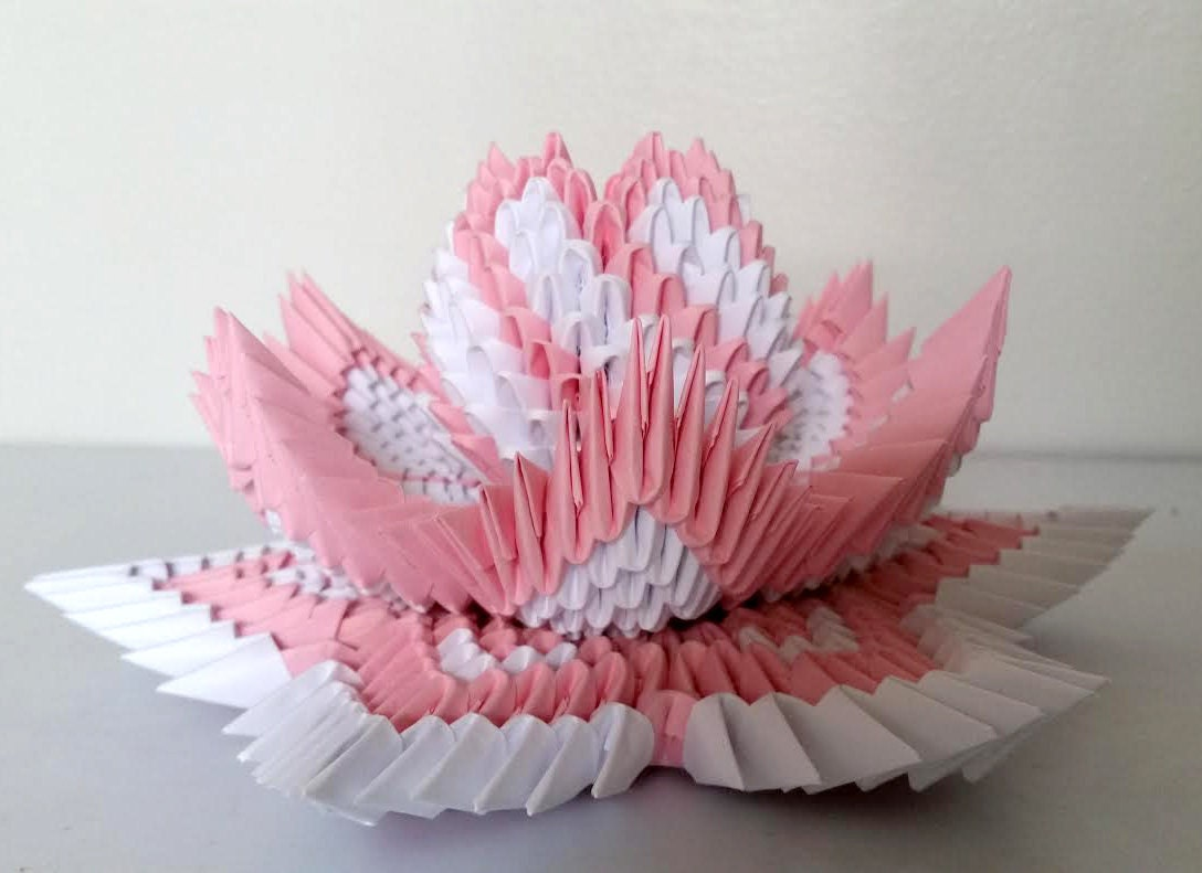 3d Origami Lotus 2 Etsy