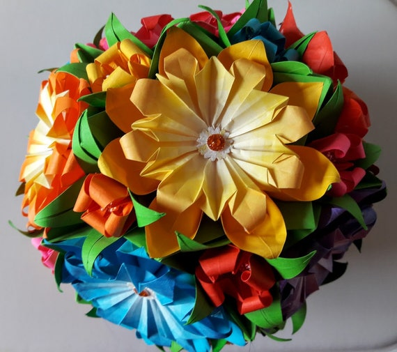 3d origami flower ball 1 etsy image 0 mightylinksfo