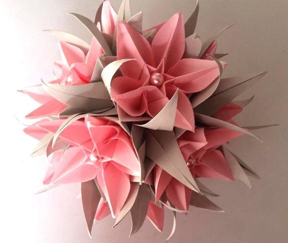 3d origami electra kusudama with carambola flowers etsy image 0 mightylinksfo