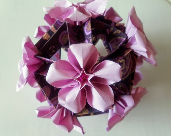 3d Origami Cascade Kusudama Variation With Carambola Etsy