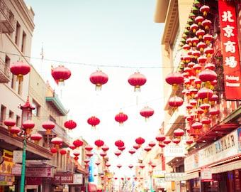 San Francisco Wall Art, Chinatown Photo, Chinese Lanterns, Chinese Culture, Cityscape Photo, California, Asian Art, Travel Photography