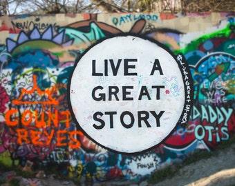 Graffiti Art, Photo, Austin Texas, Fine Art Photography, Urban Art, Motivation, Modern Wall Decor, Pop Culture, Dorm Decor, Urban Landscape
