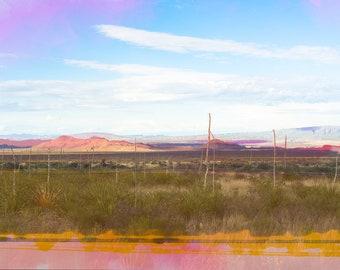 Landscape Photo, Fine Art Photography, Big Bend National Park, Nature Photo, West Texas, Pastel Colors, Travel Photography, Boho Art Print,
