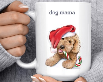 Goldendoodle Art on Personalized Dog Mug, goldendoodle grandma, step dad gift, step mom gift, Service Dog, doodle mom, great grandma, golden
