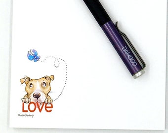 Love Gift for Pit Bull / Notepad | Pitbull / Valentine's Day / Pet Gift
