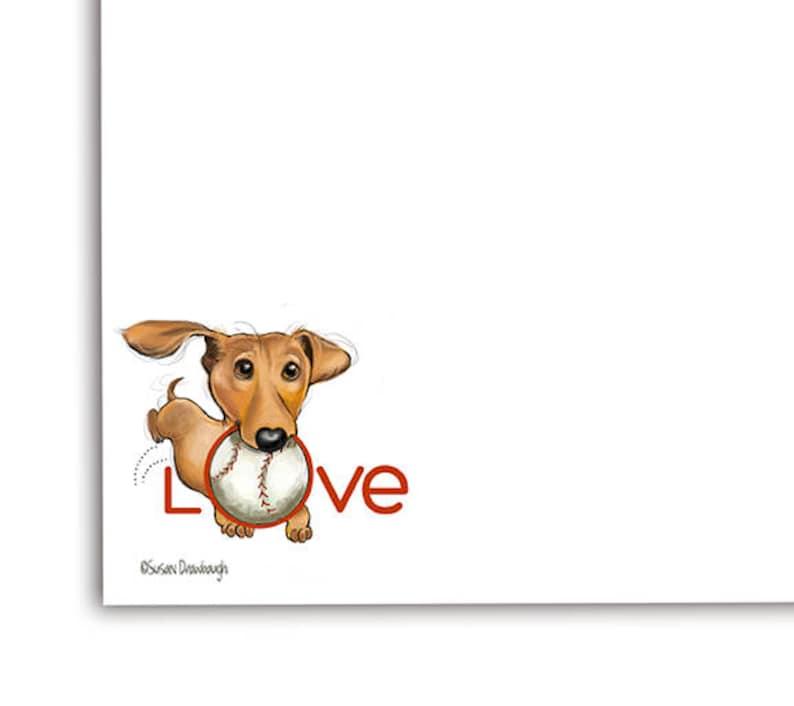 Notepad with Doxie  Notepad  Dog Notepad  Dachshund Dog  image 0