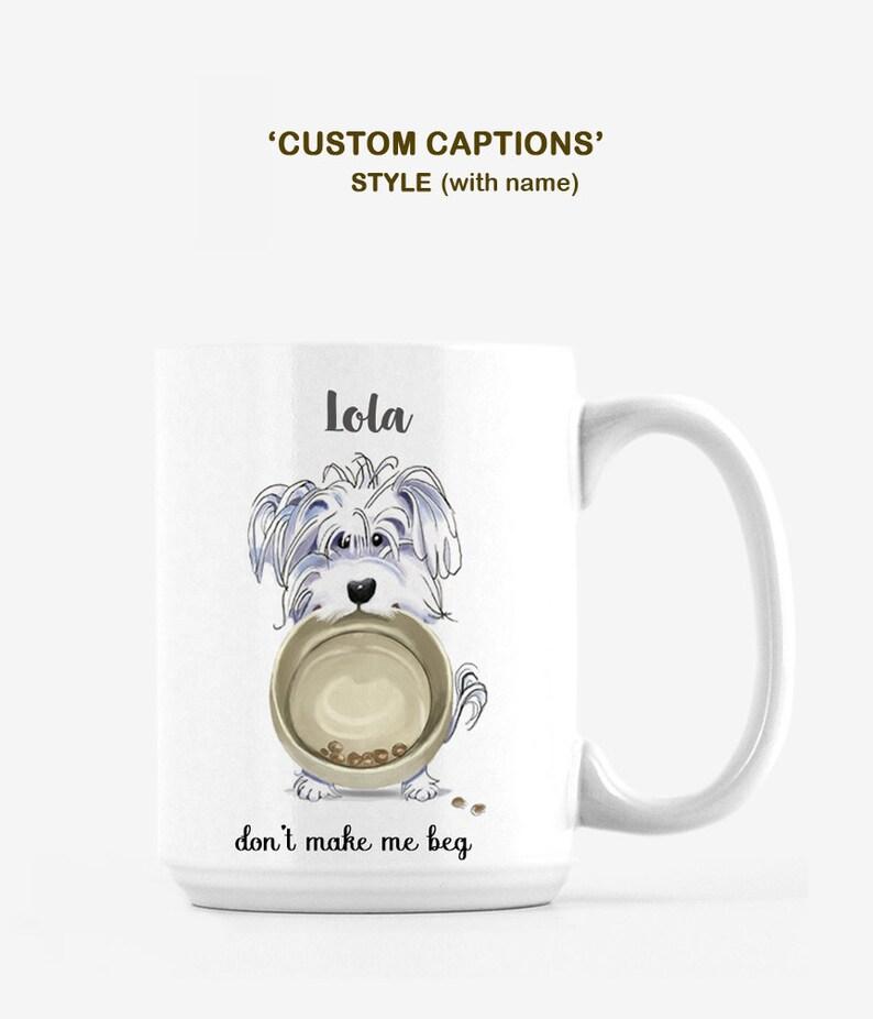 Maltese Artwork on Mug / Personalized Maltese Mug / image 0