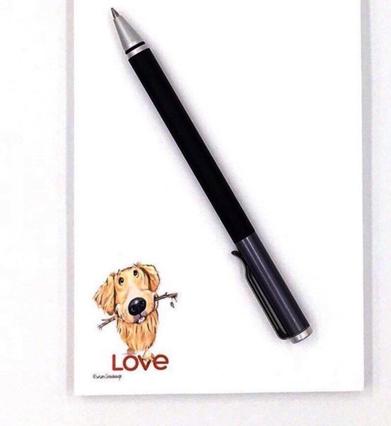 Love Gift for Golden Retriever Notepad  Golden Retriever  image 0