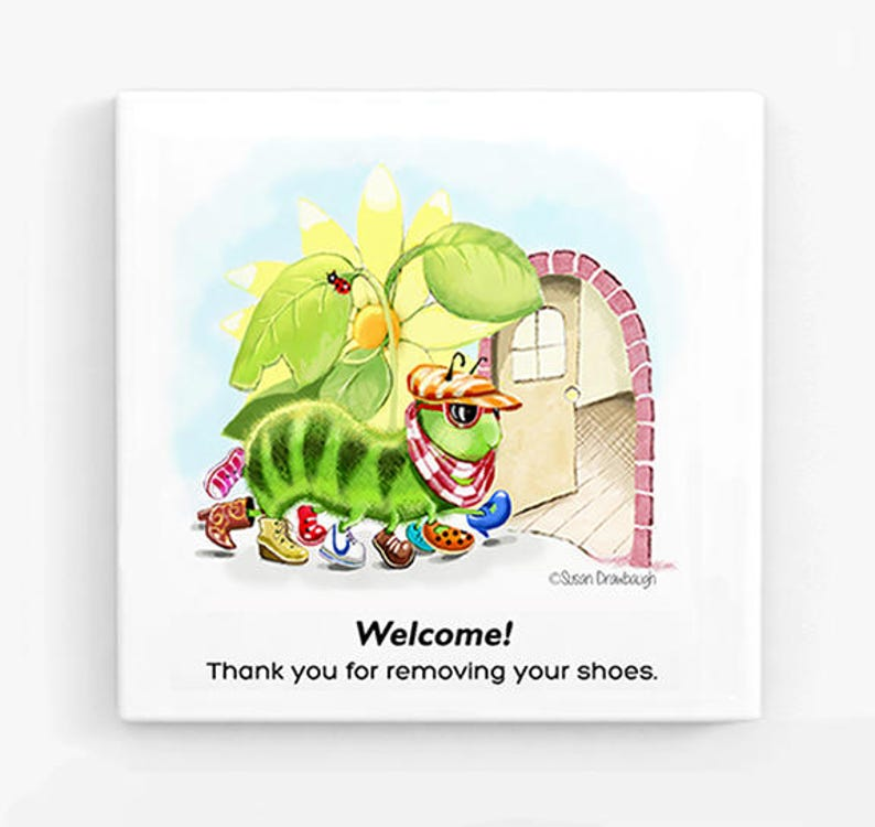 Remove Your Shoes Sign  Canvas Sign  Remove Shoes  Baby image 0