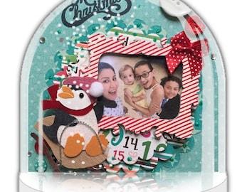 Snow globe, Personalised Christmas gift, personalised snow globe, photo gift, penguin, personalised gift, holidays decor, snow dome, UK Shop