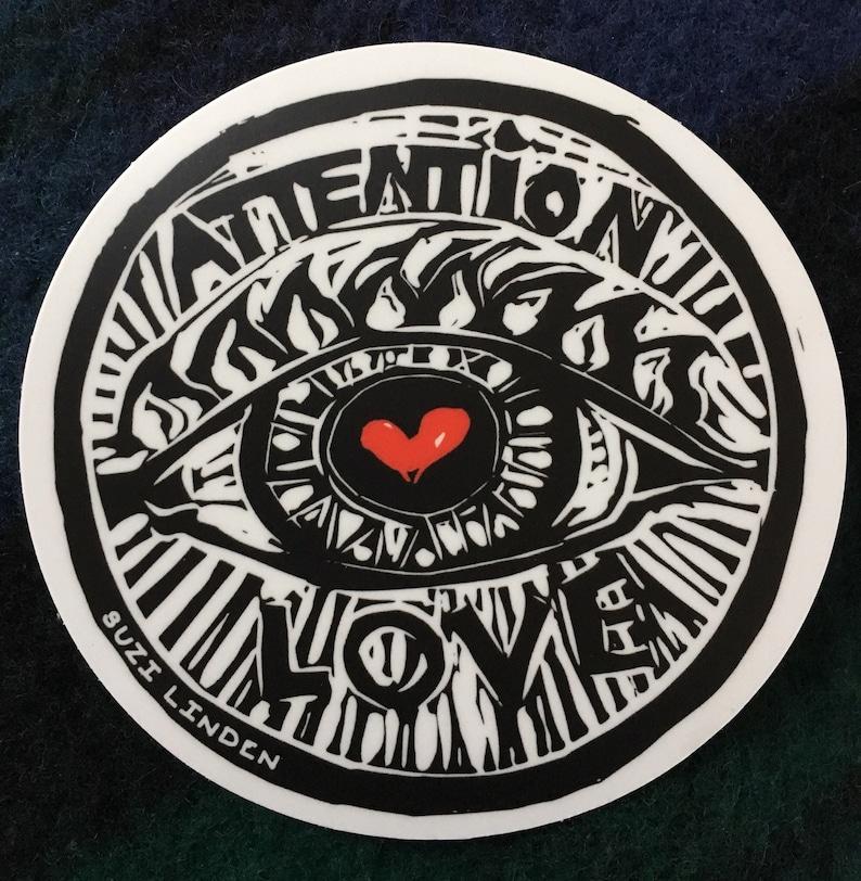 Attention Love vinyl sticker 4 image 0