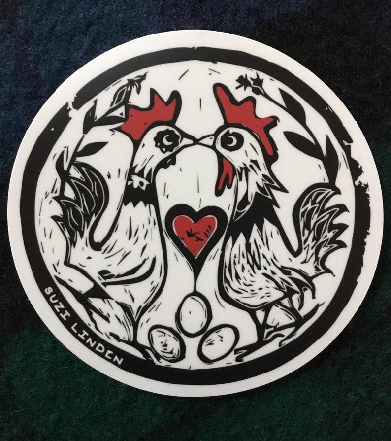 Chicken Eyed Wish vinyl sticker 4 image 0